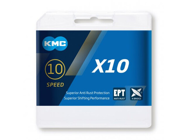 KMC X10 EPT Bicycle Chain 10-speed silver